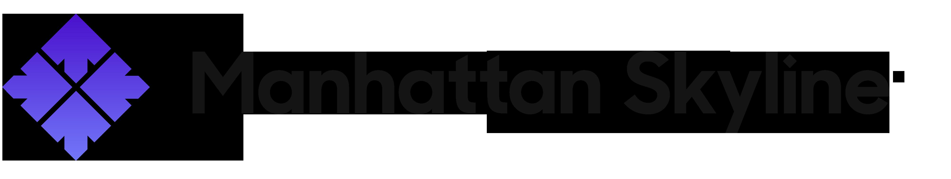 Manhattan Skyline Logo Black
